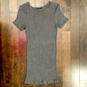 Brandy Melville fitted ribbed tshirt dress